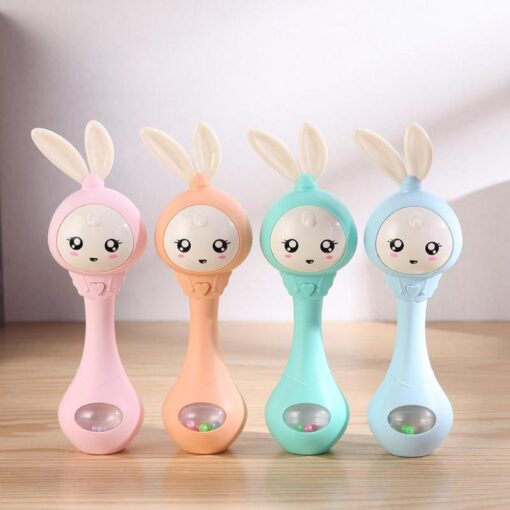 0 12M Baby Cute Hand Bells Rattle Ring Bell Early Educational Toys Cattle baby toy Bed