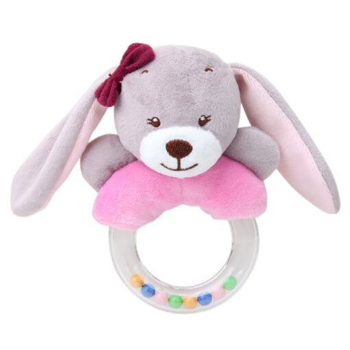 0 24 Months Cute Baby Rattle Toys Rabbit Plush Baby Cartoon Bed Toys for Newborn Educational 1