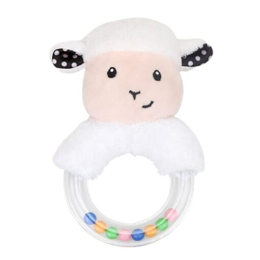 0 24 Months Cute Baby Rattle Toys Rabbit Plush Baby Cartoon Bed Toys for Newborn Educational 2