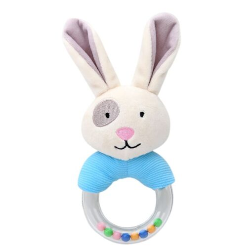 0 24 Months Cute Baby Rattle Toys Rabbit Plush Baby Cartoon Bed Toys for Newborn Educational 3