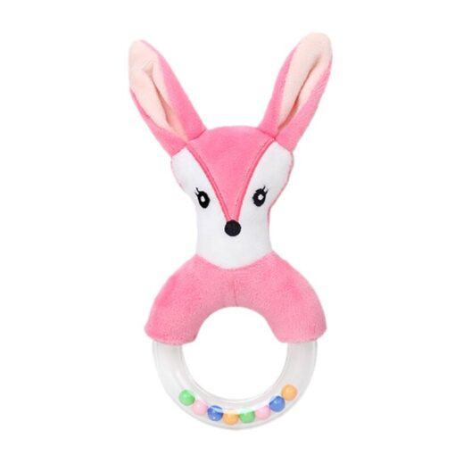 0 24 Months Cute Baby Rattle Toys Rabbit Plush Baby Cartoon Bed Toys for Newborn Educational 4