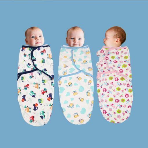 0 3 Months 100 Cotton Baby Swaddle Wrap Blanket Newborn Infants Baby Envelop Sleep Bag Sleepsack 1