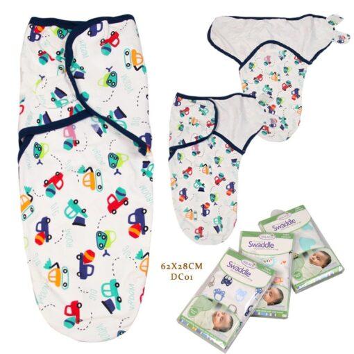 0 3 Months 100 Cotton Baby Swaddle Wrap Blanket Newborn Infants Baby Envelop Sleep Bag Sleepsack 2