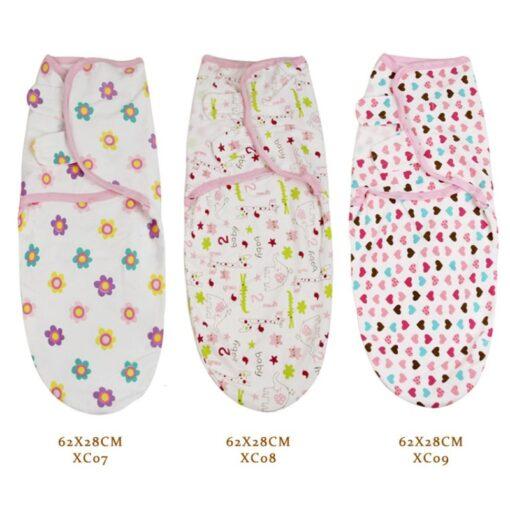 0 3 Months 100 Cotton Baby Swaddle Wrap Blanket Newborn Infants Baby Envelop Sleep Bag Sleepsack 3