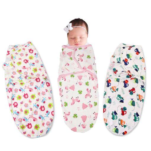 0 3 Months 100 Cotton Baby Swaddle Wrap Blanket Newborn Infants Baby Envelop Sleep Bag Sleepsack