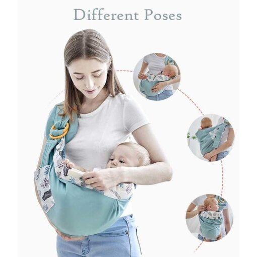 0 36M Newborn Baby Wrap Carrier Sling Adjustable Infant Comfortable Nursing Cover Soft Breathable Breastfeeding Carrier 1