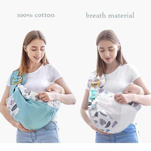 0 36M Newborn Baby Wrap Carrier Sling Adjustable Infant Comfortable Nursing Cover Soft Breathable Breastfeeding Carrier 3