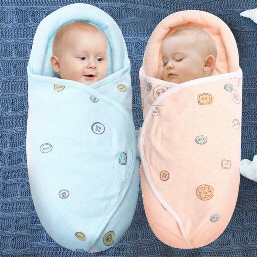 0 8M Newborn Baby Cotton Blanket Swaddle Cute Cartoon Toddler Winter Warm Sleeping Bags Sleep Sack 6