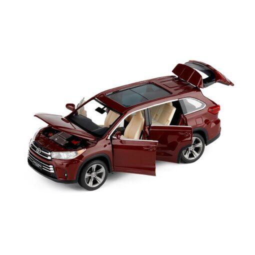 1 32 Highlander Simulation Toy Car Model Alloy Pull Back 6 Open Door Children Toys Genuine 1