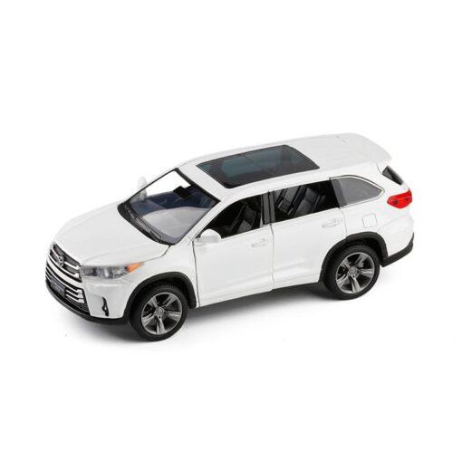 1 32 Highlander Simulation Toy Car Model Alloy Pull Back 6 Open Door Children Toys Genuine 5