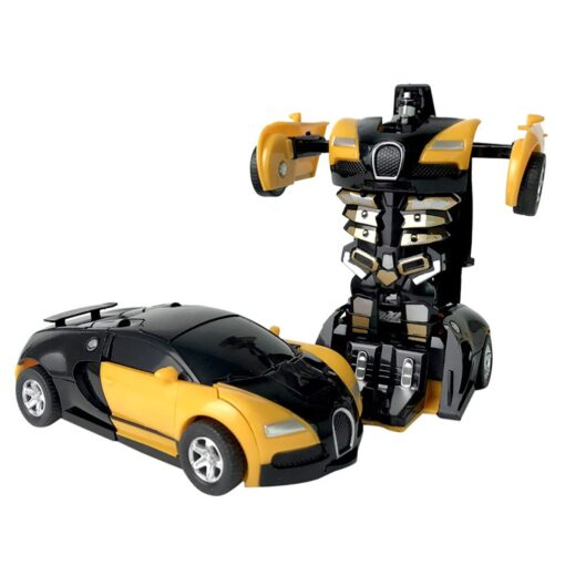 1 32 The Collision Car remote control car Kids Pull Back Children Deformation Car Robot Toy 1