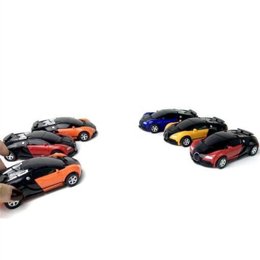 1 32 The Collision Car remote control car Kids Pull Back Children Deformation Car Robot Toy 3
