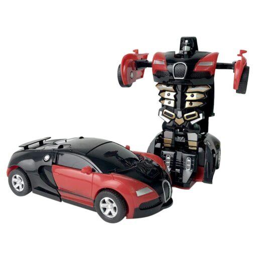 1 32 The Collision Car remote control car Kids Pull Back Children Deformation Car Robot Toy 5