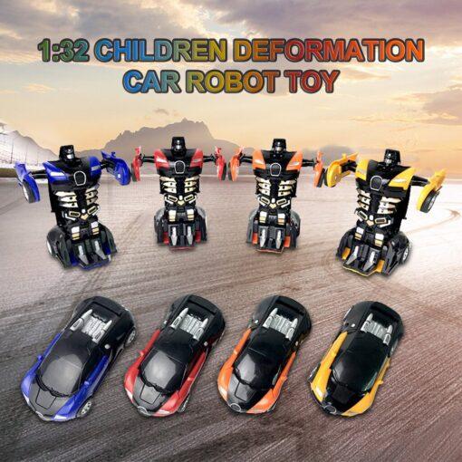 1 32 The Collision Car remote control car Kids Pull Back Children Deformation Car Robot Toy