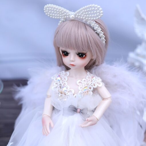 1 6 BJD Doll 30CM 18 Ball Joints Dolls With Full Outfits Dress Wig Shoes Headdress 1
