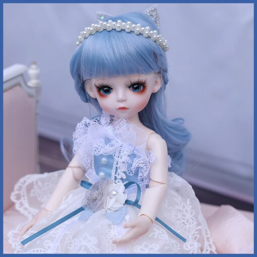 1 6 BJD Doll 30CM 18 Ball Joints Dolls With Full Outfits Dress Wig Shoes Headdress 2