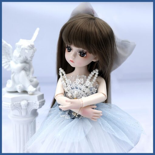 1 6 BJD Doll 30CM 18 Ball Joints Dolls With Full Outfits Dress Wig Shoes Headdress 3