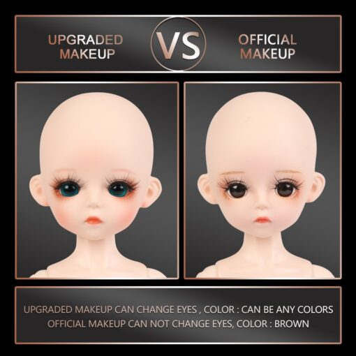 1 6 BJD Doll 30CM 18 Ball Joints Dolls With Full Outfits Dress Wig Shoes Headdress 5