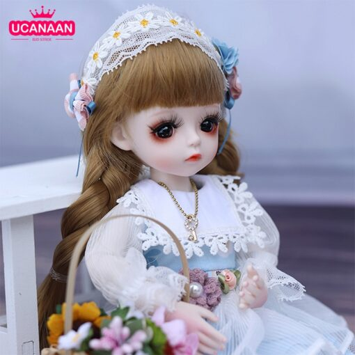 1 6 BJD Doll 30CM 18 Ball Joints Dolls With Full Outfits Dress Wig Shoes Headdress