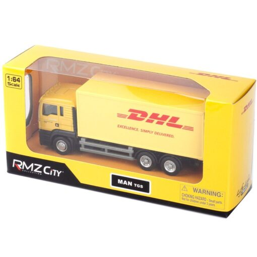 1 64 Scale 15CM Toy Car Metal Alloy Commercial Vehicle Express DHL VAN PullBack Diecast Truck 1
