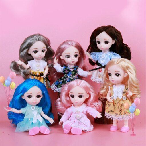 1 8 BJD Dolls Clothes Set 16 18 CM BJD Dolls Lace Flower Dress Sweater 6 1