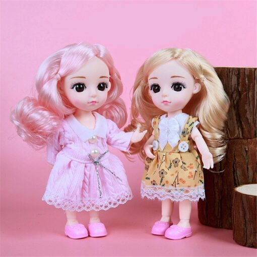 1 8 BJD Dolls Clothes Set 16 18 CM BJD Dolls Lace Flower Dress Sweater 6 3