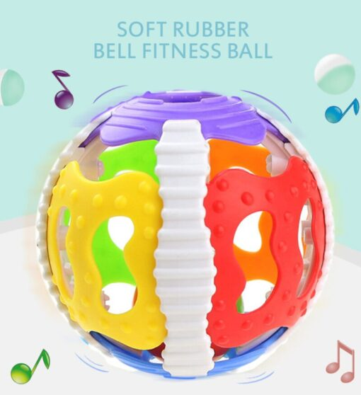 1 Pc Soft Rubber Rattles Baby Hand Grip Rattle Fitness Puzzle Soft Rubber Ball Bell Biting 1