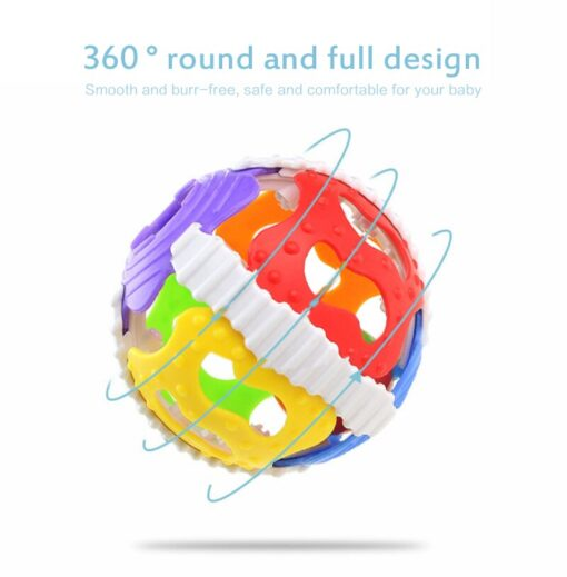 1 Pc Soft Rubber Rattles Baby Hand Grip Rattle Fitness Puzzle Soft Rubber Ball Bell Biting 2