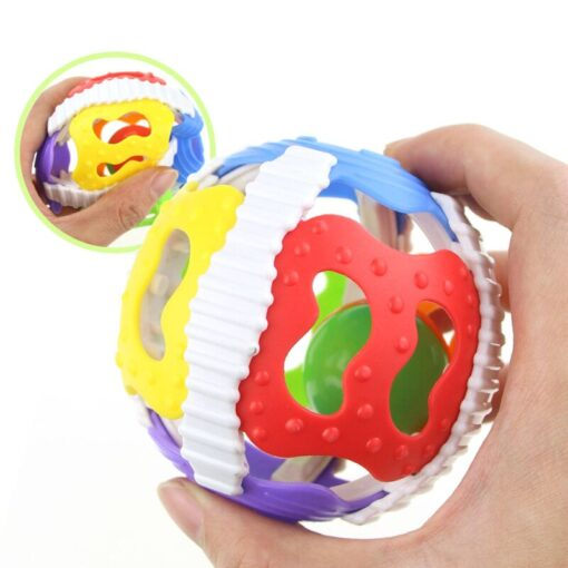 1 Pc Soft Rubber Rattles Baby Hand Grip Rattle Fitness Puzzle Soft Rubber Ball Bell Biting 3