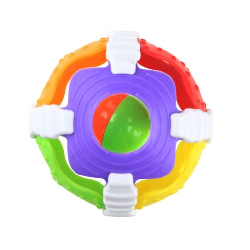 1 Pc Soft Rubber Rattles Baby Hand Grip Rattle Fitness Puzzle Soft Rubber Ball Bell Biting 4