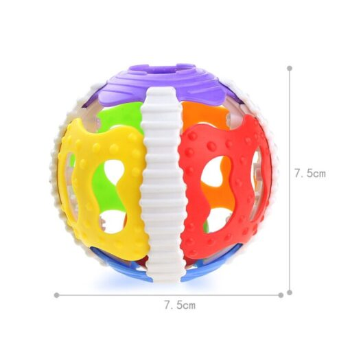 1 Pc Soft Rubber Rattles Baby Hand Grip Rattle Fitness Puzzle Soft Rubber Ball Bell Biting 5
