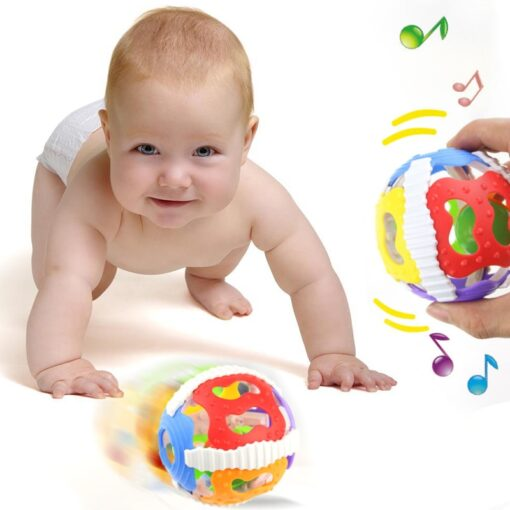1 Pc Soft Rubber Rattles Baby Hand Grip Rattle Fitness Puzzle Soft Rubber Ball Bell Biting