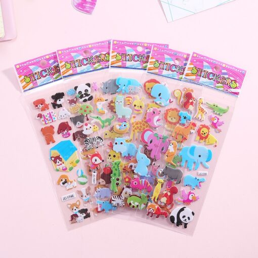 1 Pc Stickers For Kids Girls Boys Stickers 3D Waterproof Bubble PVC Assorted Scrapbook Stickers Cartoon 2