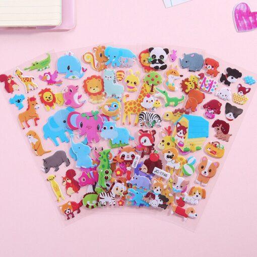 1 Pc Stickers For Kids Girls Boys Stickers 3D Waterproof Bubble PVC Assorted Scrapbook Stickers Cartoon 3