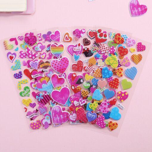 1 Pc Stickers For Kids Girls Boys Stickers 3D Waterproof Bubble PVC Assorted Scrapbook Stickers Cartoon 4