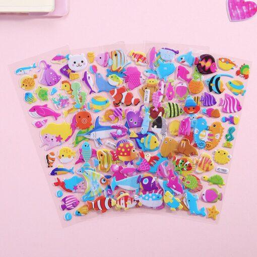 1 Pc Stickers For Kids Girls Boys Stickers 3D Waterproof Bubble PVC Assorted Scrapbook Stickers Cartoon 5