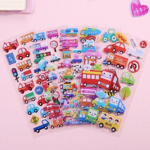 1 Pc Stickers For Kids Girls Boys Stickers 3D Waterproof Bubble PVC Assorted Scrapbook Stickers Cartoon