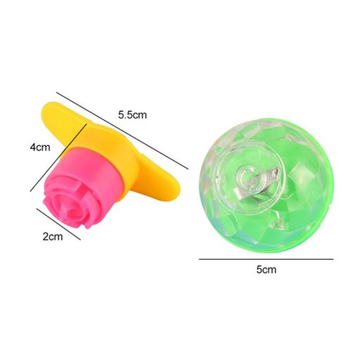 1 Pcs Funny Classic Nostalgic Children Spinning Top Educational Toys Super rotating Ejection Gyro Gift Random 2