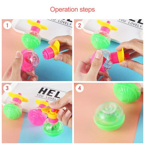 1 Pcs Funny Classic Nostalgic Children Spinning Top Educational Toys Super rotating Ejection Gyro Gift Random 4