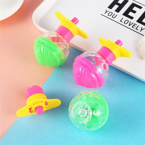 1 Pcs Funny Classic Nostalgic Children Spinning Top Educational Toys Super rotating Ejection Gyro Gift Random