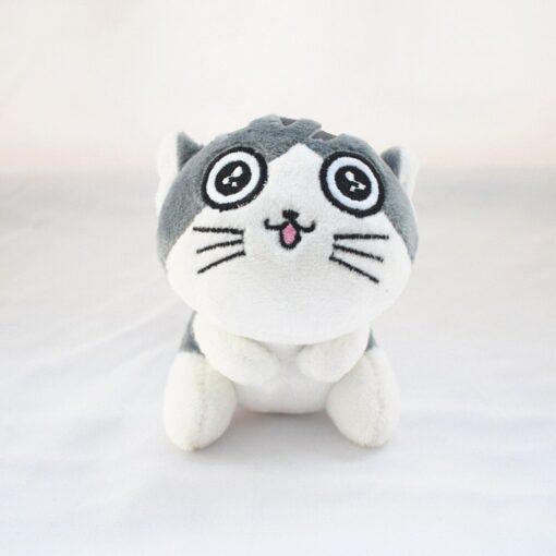 1 Piece 4 Designs 10CM Approx Cat Plush Stuffed Dolls Toys Key Ring Chain Plush Cat 3