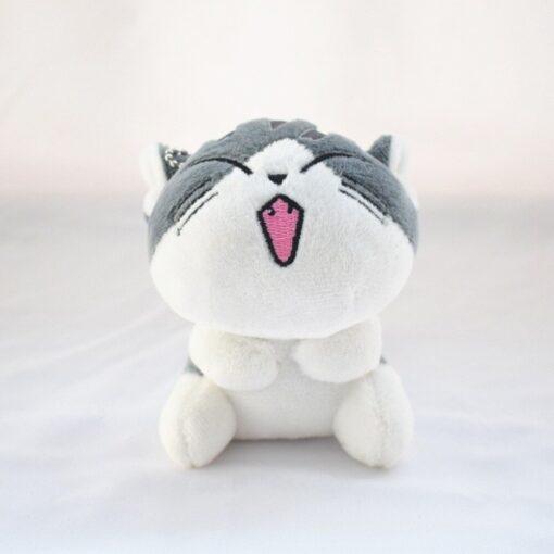1 Piece 4 Designs 10CM Approx Cat Plush Stuffed Dolls Toys Key Ring Chain Plush Cat 4