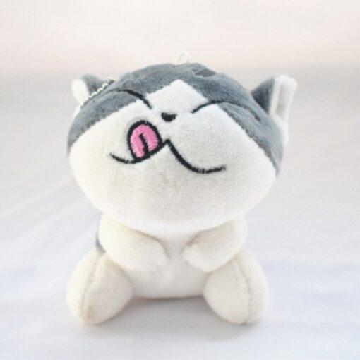 1 Piece 4 Designs 10CM Approx Cat Plush Stuffed Dolls Toys Key Ring Chain Plush Cat 5