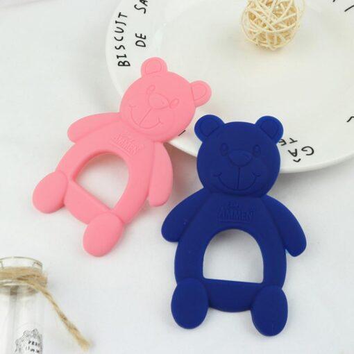 1 Piece Baby Teether Molar Stick Cute Bear Shape Child Teether Chew Toy Child Long Teeth 5
