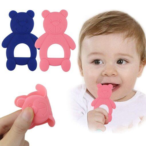 1 Piece Baby Teether Molar Stick Cute Bear Shape Child Teether Chew Toy Child Long Teeth