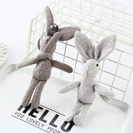 1 Piece NEW Rabbit Plush Animal Stuffed Dress Rabbit Key Chain TOY Kid s Party Plush 1