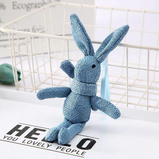 1 Piece NEW Rabbit Plush Animal Stuffed Dress Rabbit Key Chain TOY Kid s Party Plush 2
