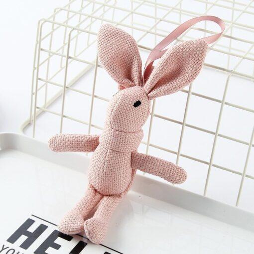 1 Piece NEW Rabbit Plush Animal Stuffed Dress Rabbit Key Chain TOY Kid s Party Plush 3