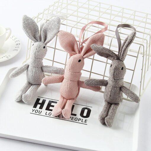 1 Piece NEW Rabbit Plush Animal Stuffed Dress Rabbit Key Chain TOY Kid s Party Plush
