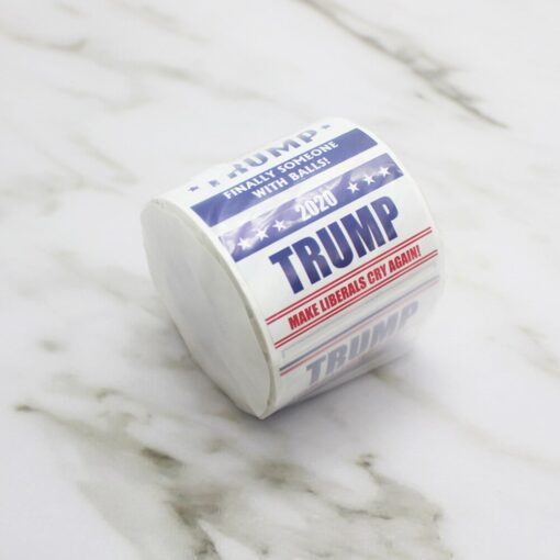 1 Roll 2020 US President Donald Trump Stickers Face Decals Keep America Great Keep America Great 10